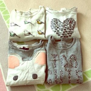 GAP girl size 5 long sleeves shirts set